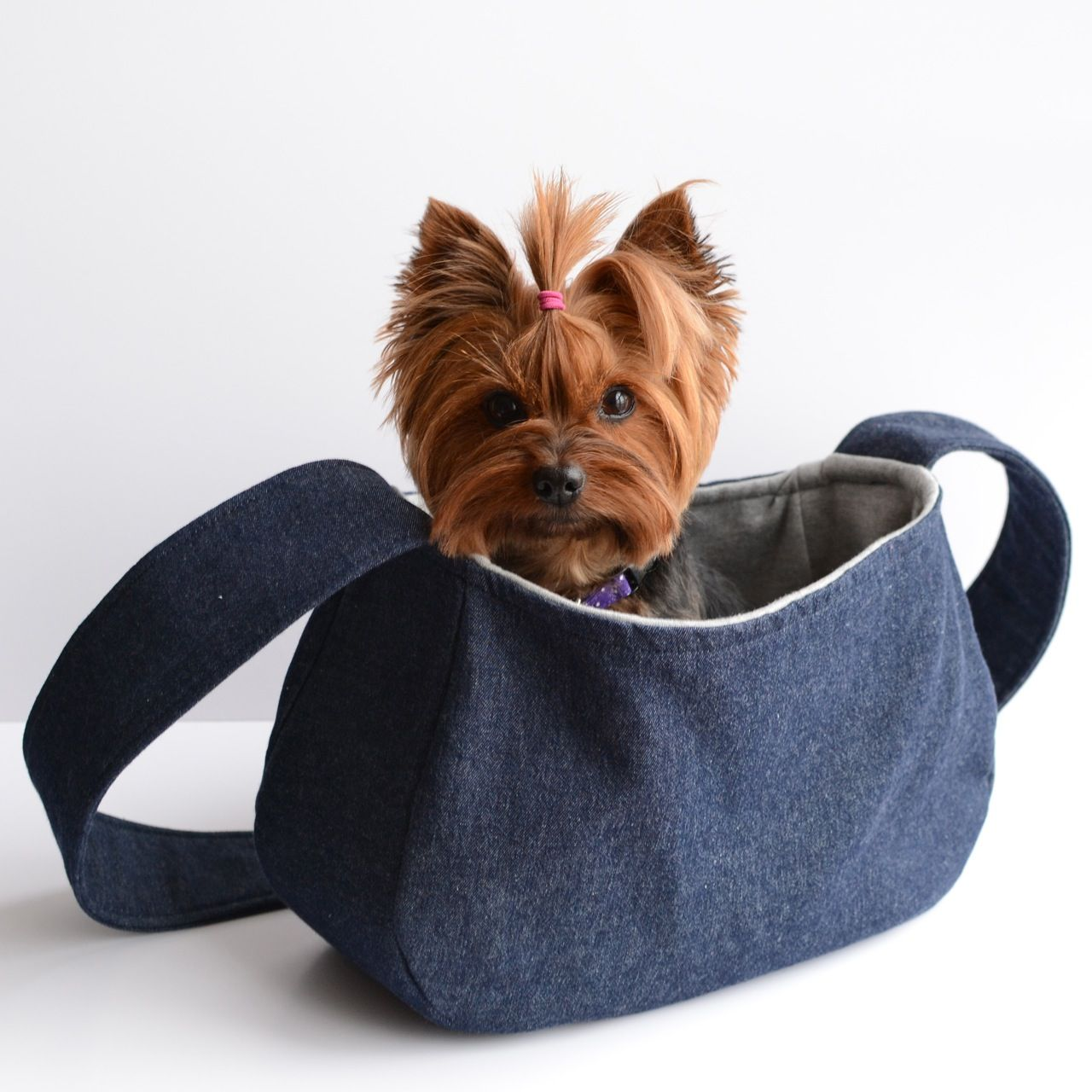 Doggy sling bag pattern sewing and crochet pinterest - Pattern for dog carrier sling ...