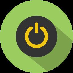 Button Power Icon Icon Long Shadow Vodafone Logo