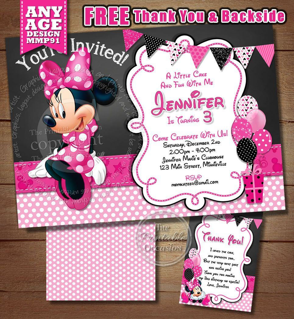 photograph relating to Come Inside It's Fun Inside Free Printable identified as Purple POLKA DOT MINNIE MOUSE BIRTHDAY INVITATION PRINTABLE
