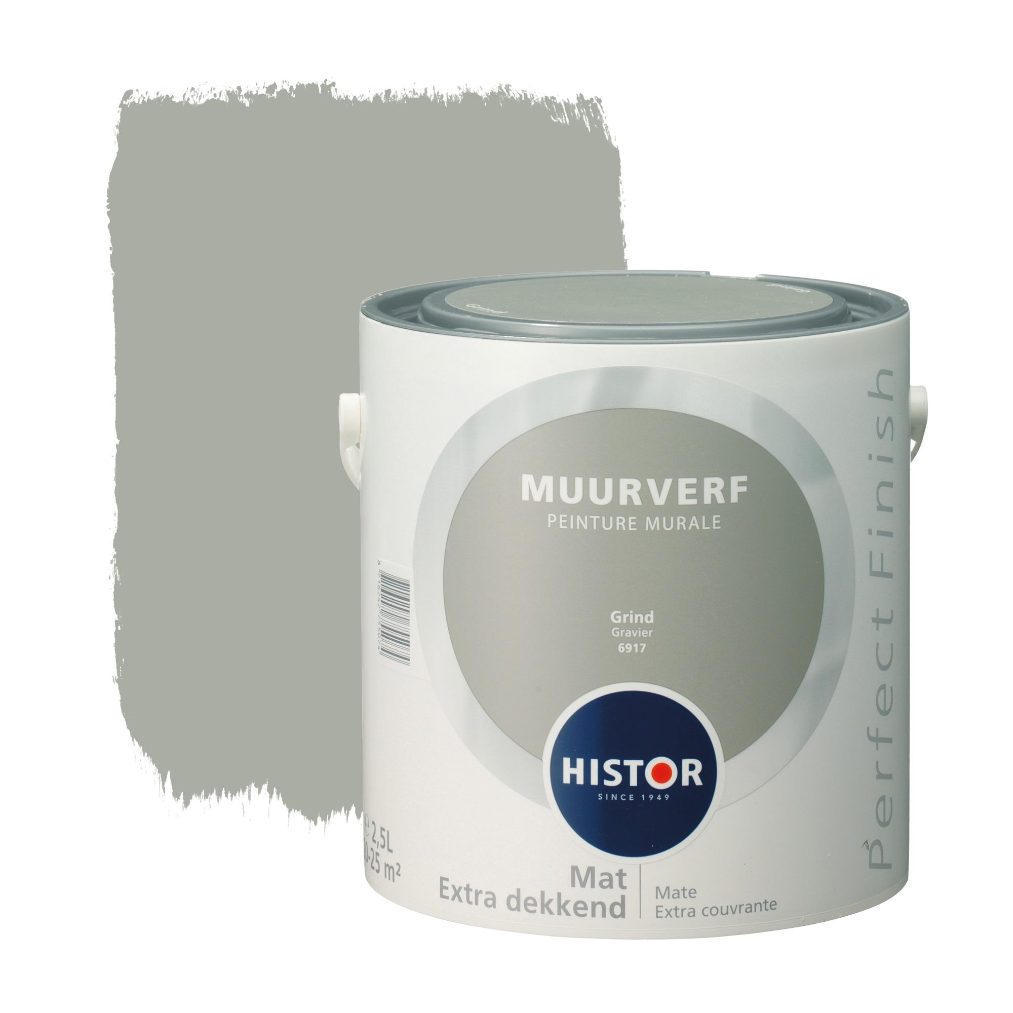 Histor Perfect Finish muurverf mat grind 2,5 l Muurverf