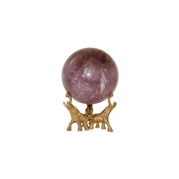 """Amethyst Spheres $69.95 l 2 1/2 - 5 """" l Amethyst Crystal Ball - Free... ❤ liked on Polyvore featuring home, home decor and crystal home decor"""