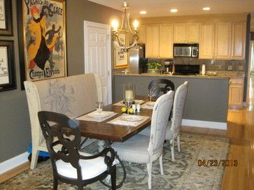 Gray Wall Color With Natural Maple Cabinets Oak Floor Home Decor