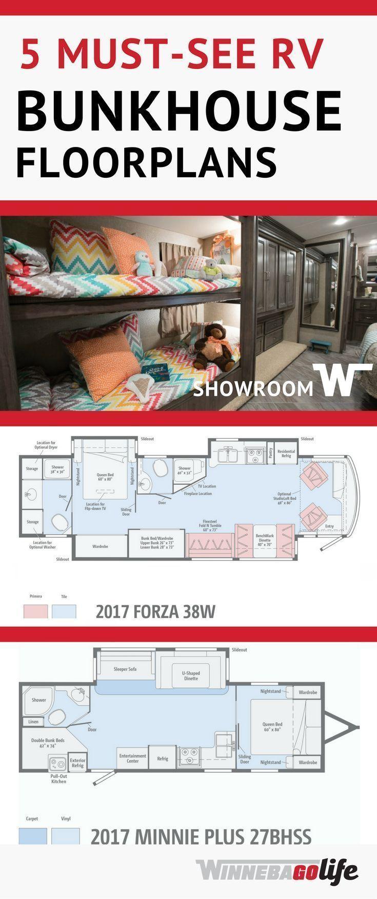 5 Must-See RV Bunkhouse Floorplans