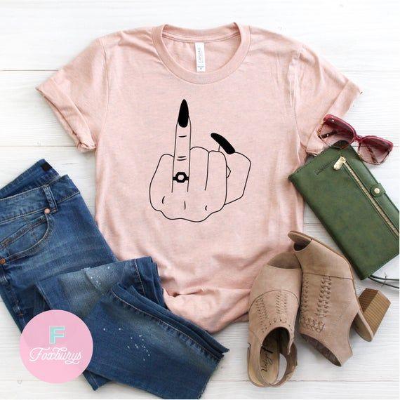 Ring Finger UNISEX Shirt, Bachelorette Gift, Funny Bride Gift, Engagement Shirt, Funny Engagement Gift, Newlywed Shirt, Funny Wife Shirt