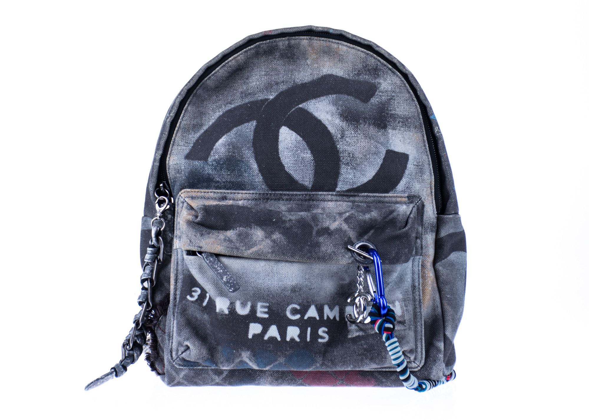 Chanel Graffiti Backpack Limited Edition Art School Runway