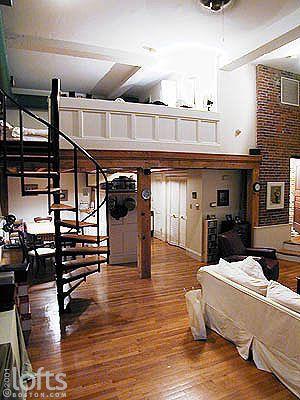 Mezzanine In Loft Apartment Boston Rumah