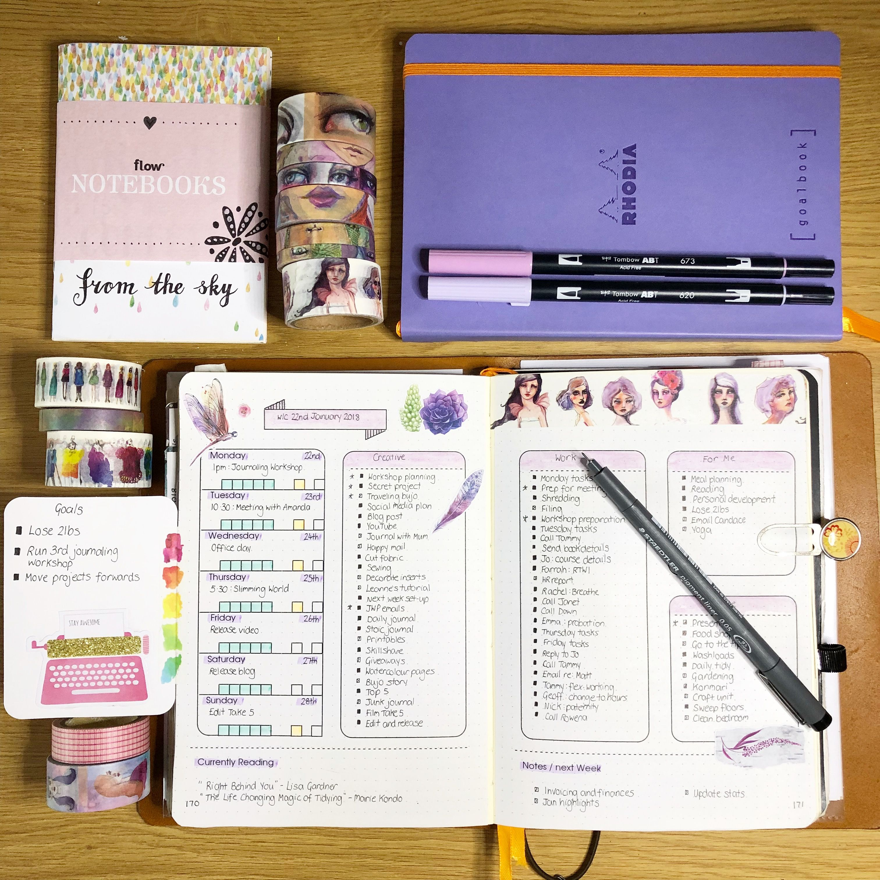 Weekly layout in my bullet journal. Available as a free download on ...
