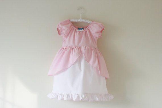 Ariel Pink Ball Gown Cotton Everyday by 5littlemonkeysdesign, $35.00 #princess #princessdress #littlemermaid #Ariel #everydayprincess #disney