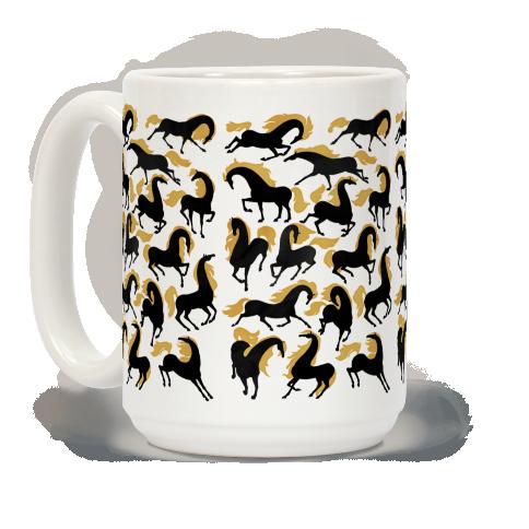 Fiery Wild Horses #mugs #coffeemug #horses #horsemug #folktales
