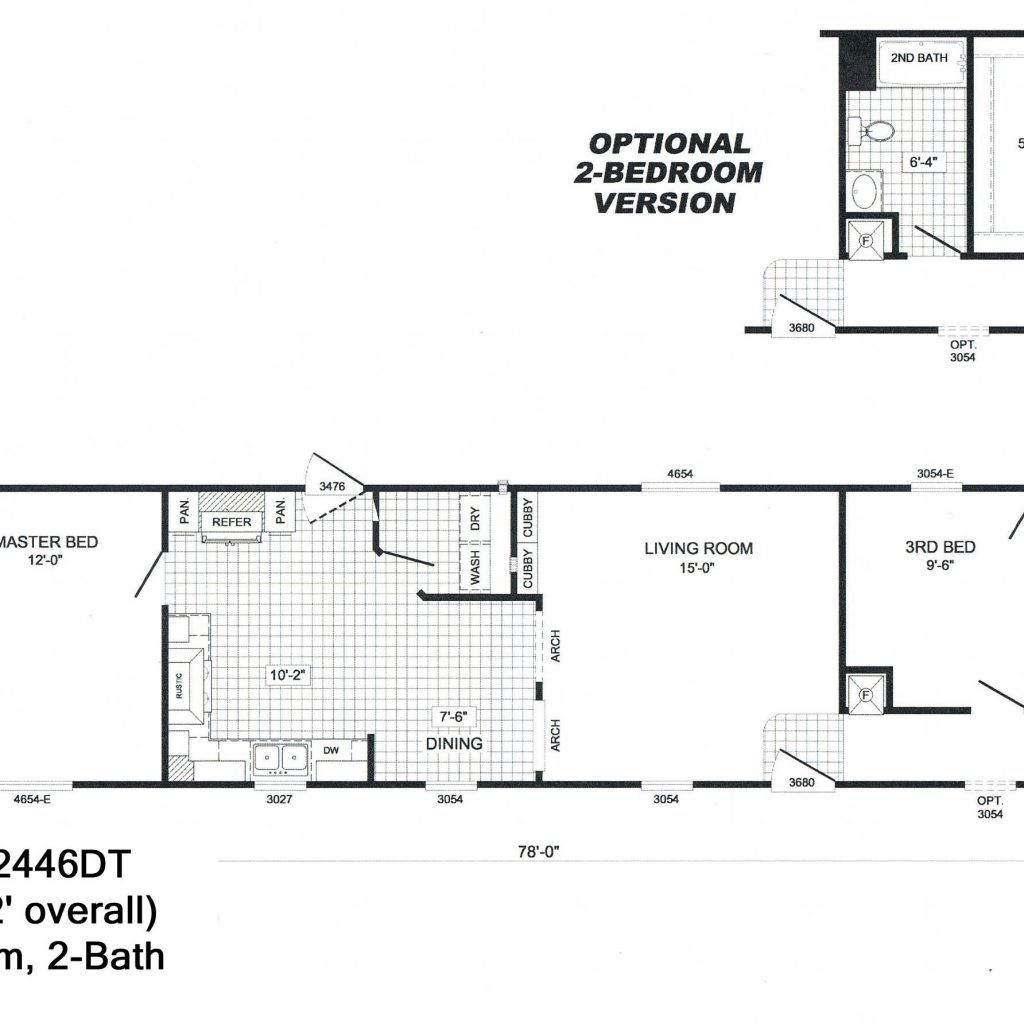 Single Section Mobile Home Floor Plans – Old Mobile Home Floor Plans