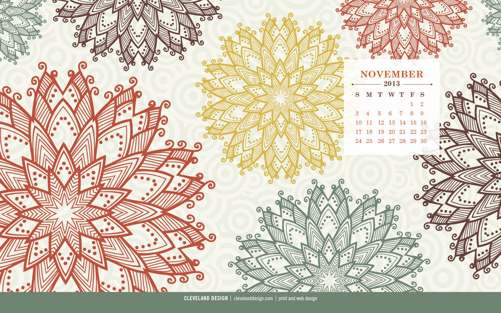 Calendar Design Wallpaper : November by cleveland design calendar wallpaper