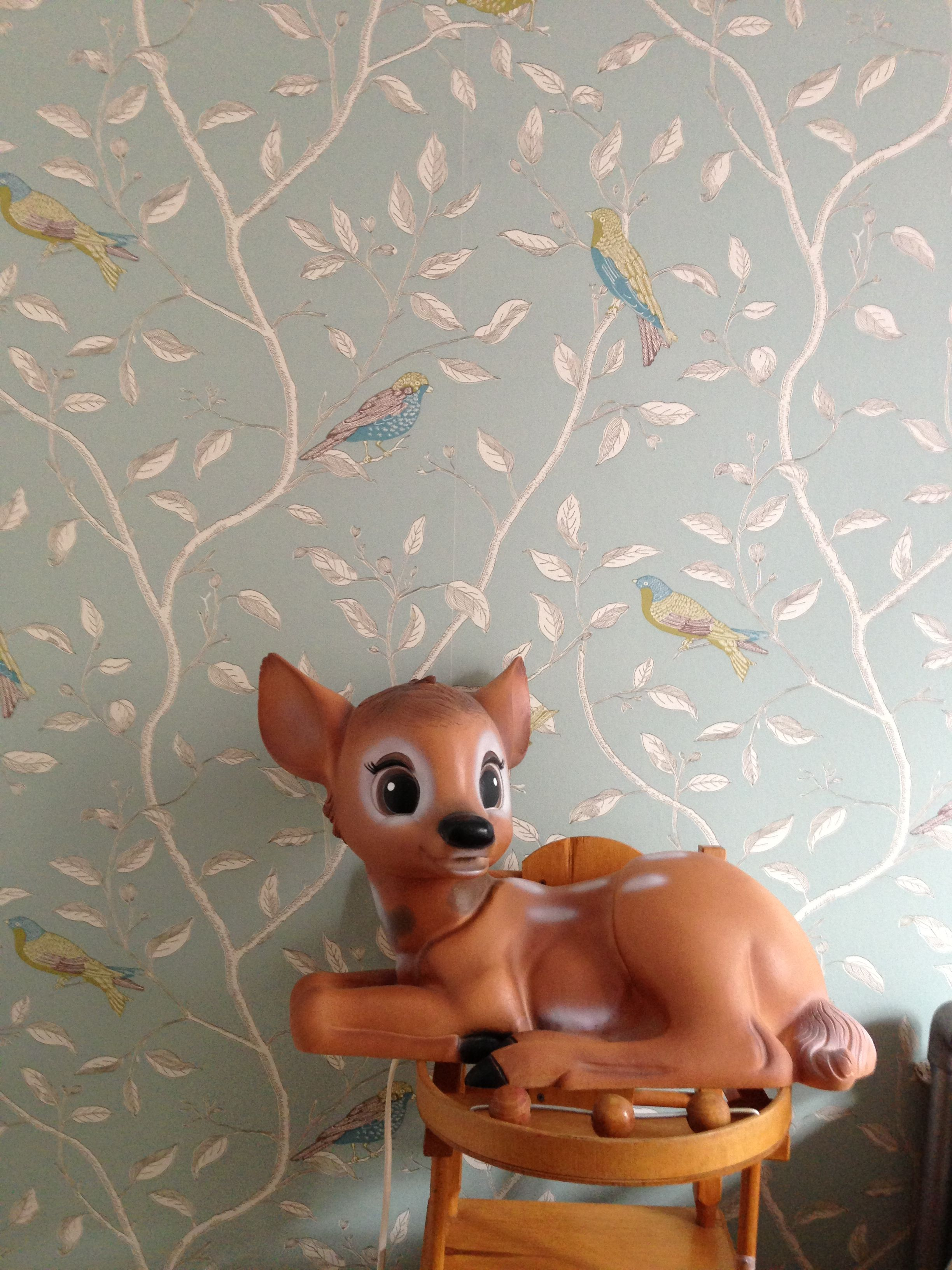 Children's room - Sanderson Finches wallpaper & bambi - Isabel Senz