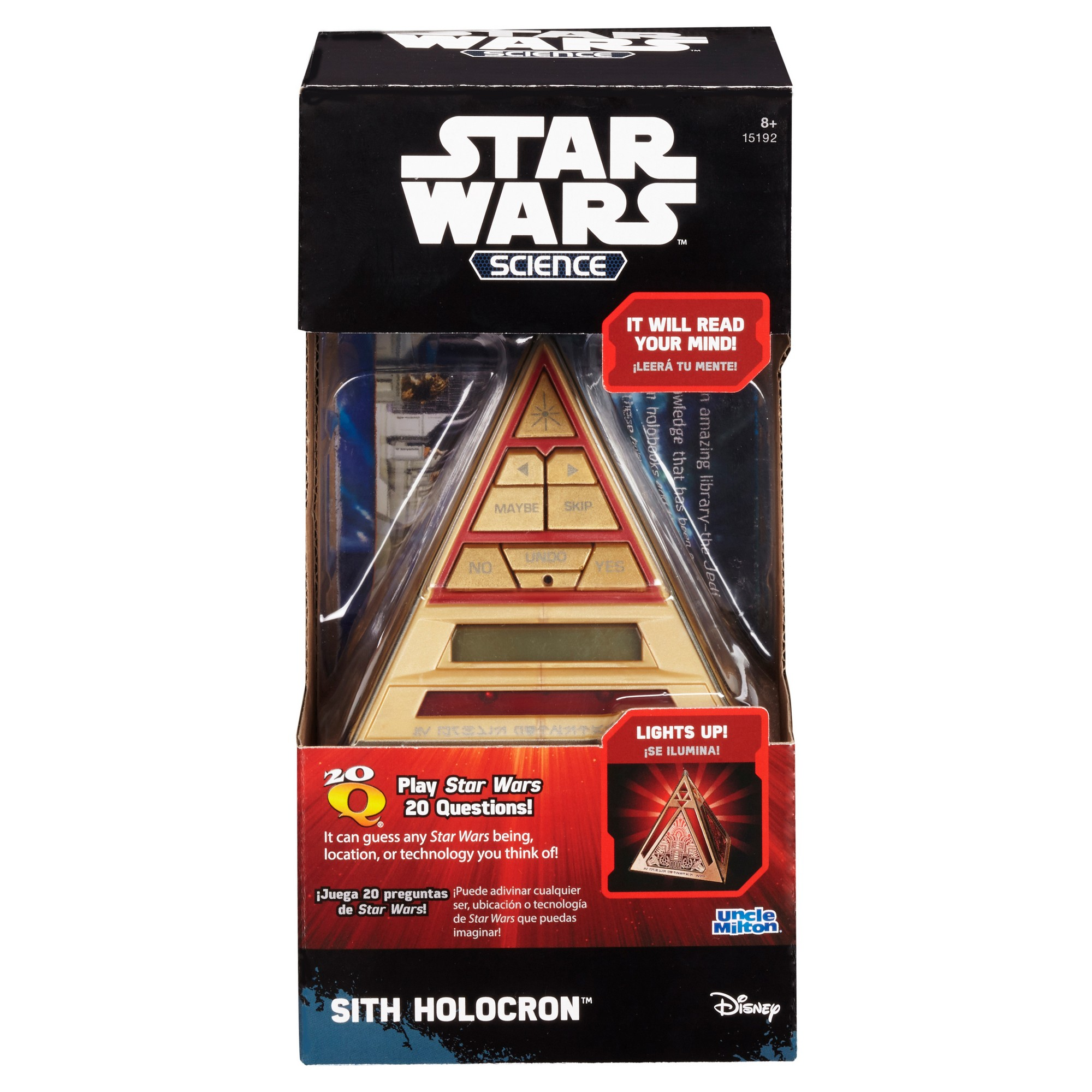 Uncle Milton Star Wars Science Sith Holocron 20Q Game