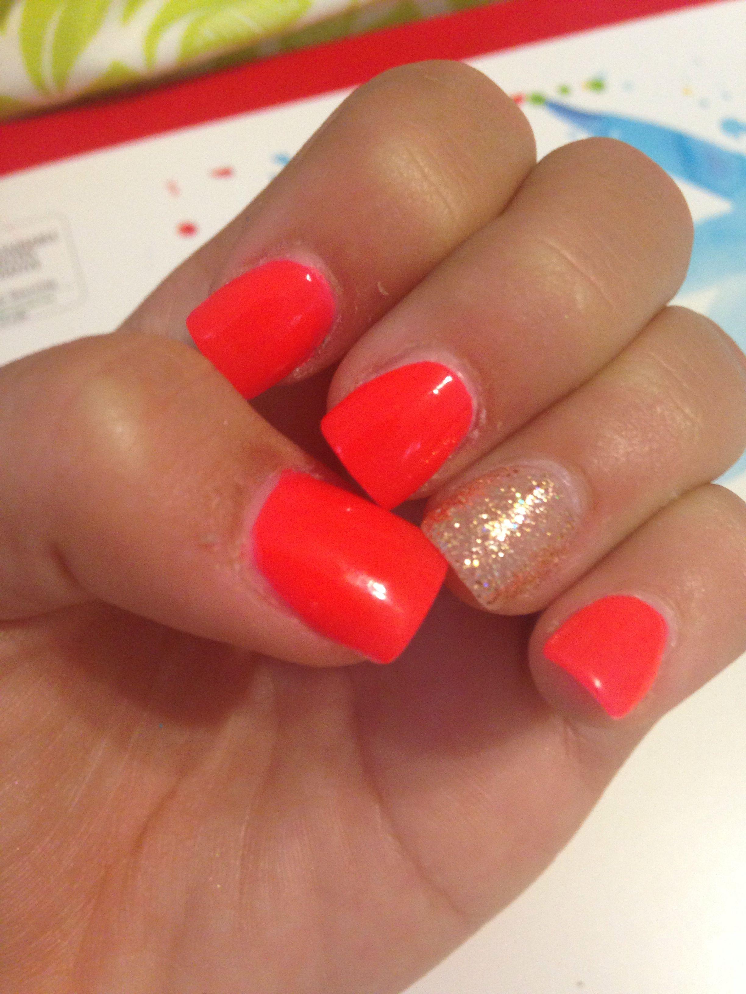 Acrylic nail idea i love this simple but summer design