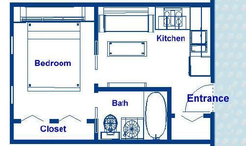 200 Square Foot Ocean Liner Stateroom Floor Plans Cabin Roximately 12 X 18 With An Island Bed Separate Bath Kitchenette Designer Liances And