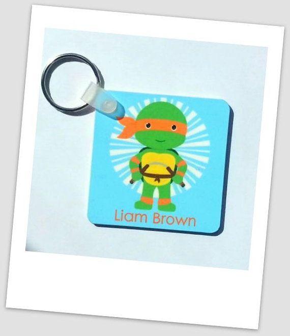 Personalized Kids Bag Tag Tmnt