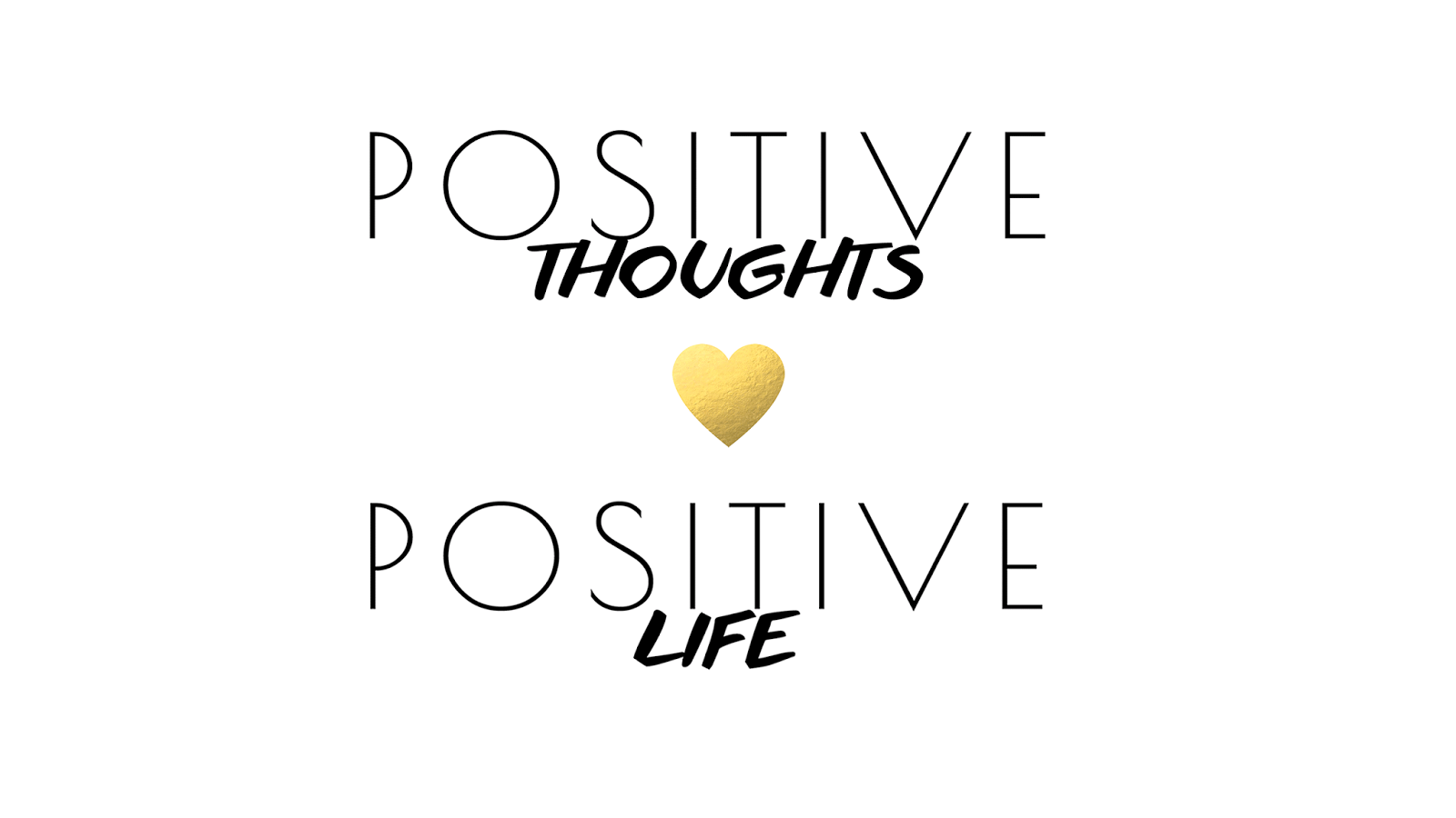 Gld Quote Black White Gld Mini Heart Positive Thoughts Life Desktop Wallpaper