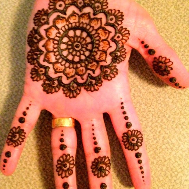 Palm Mehndi Patterns : Simple henna palm google search designs