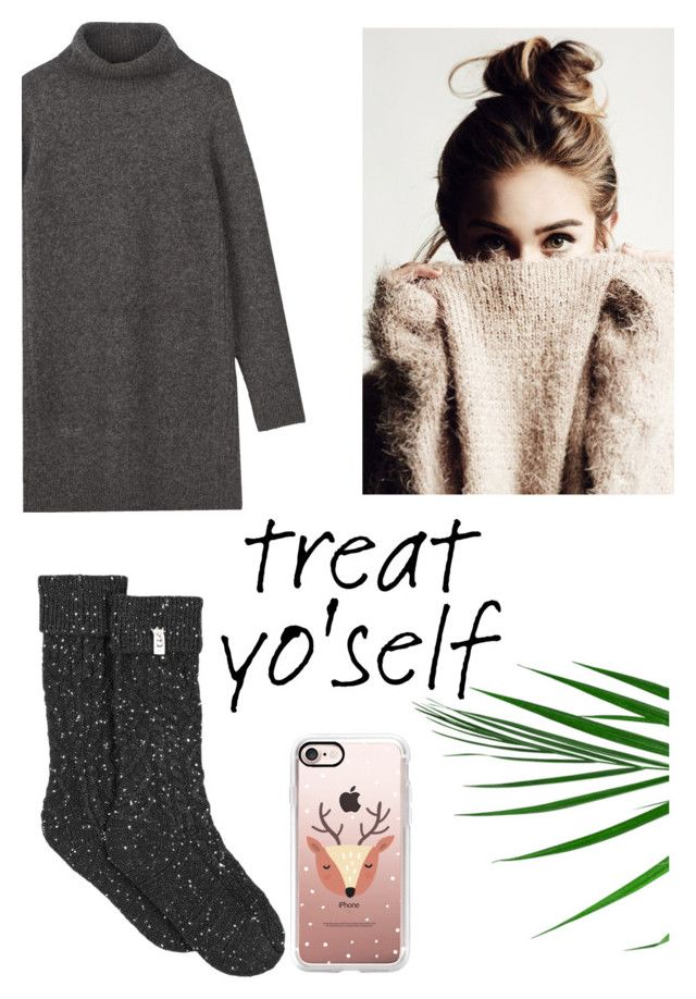 """""""Cozy At Home Attire"""" by tumblr-outfits12 ❤ liked on Polyvore featuring UGG and Casetify"""