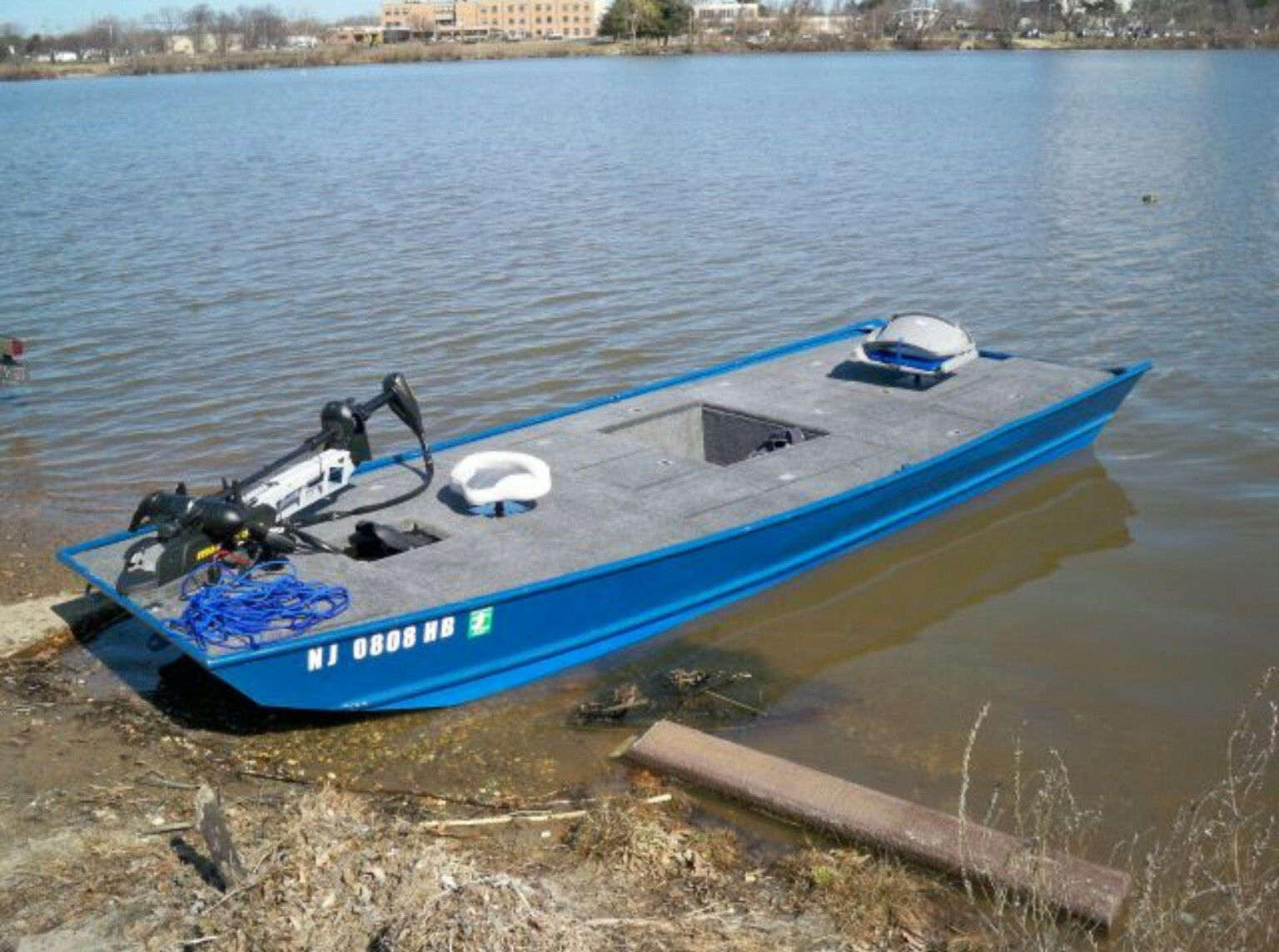 Decked Out Jonboat Perahu Memancing Perahu Memancing