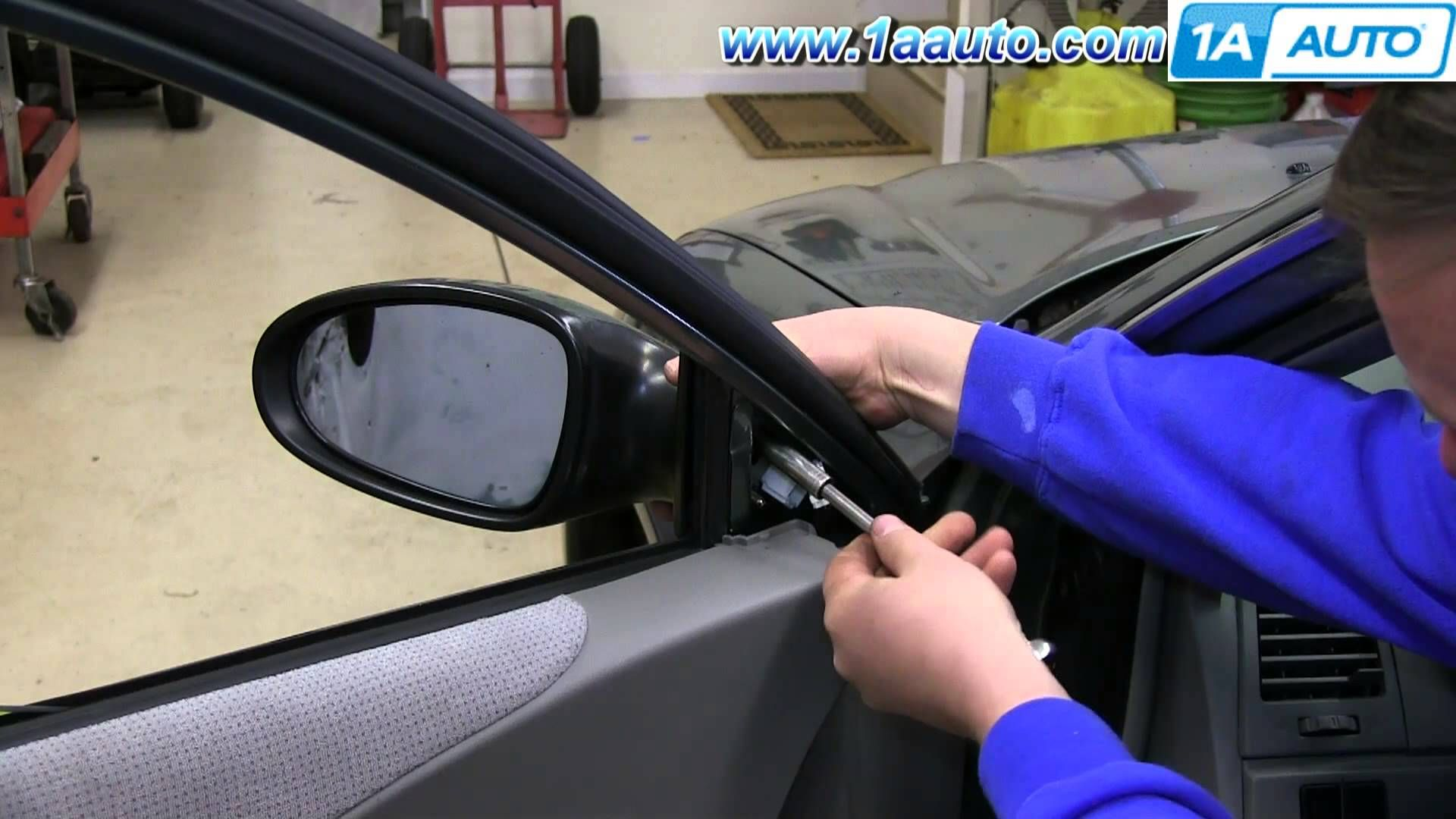 How To Install Replace Remove Side Rear View Mirror 2002 06 Nissan