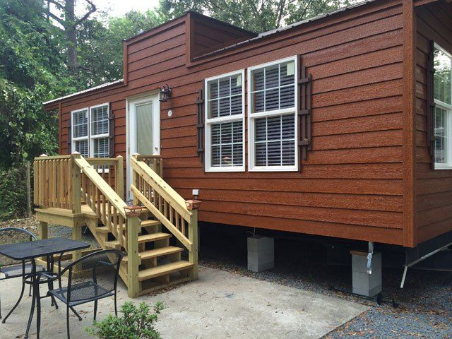 Adorable Cabin Rentals In Middle Georgia At Twin Oaks RV Park For Short Or Long