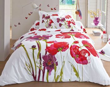 linge de lit coquelicots g ants becquet id es maison pinterest linge de lit coquelicots. Black Bedroom Furniture Sets. Home Design Ideas