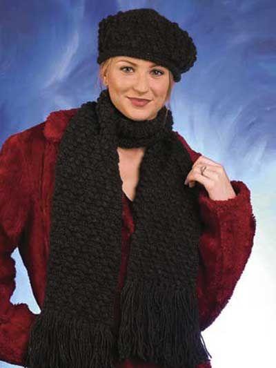 Free Crochet Diamond Hat & Scarf Pattern. Hat pattern not well ...