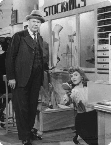 Charles Coburn And Jean Arthur In The Devil In Miss Jones