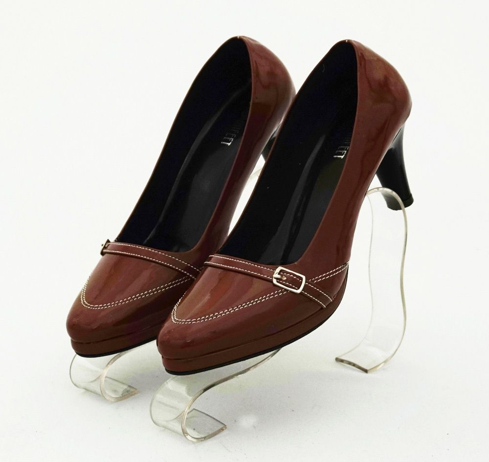 Sepatu Heels Elegan Warna Coklat Model Sabuk Cantik Heels 7 Cm