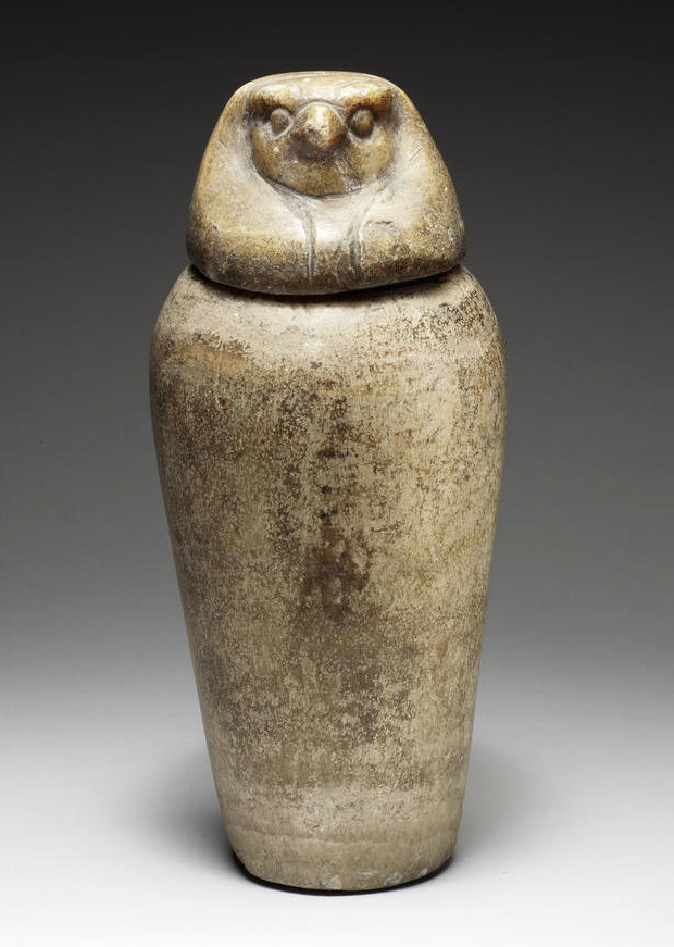 An Egyptian Alabaster Canopic Jar And Stopper Late Period Circa 664