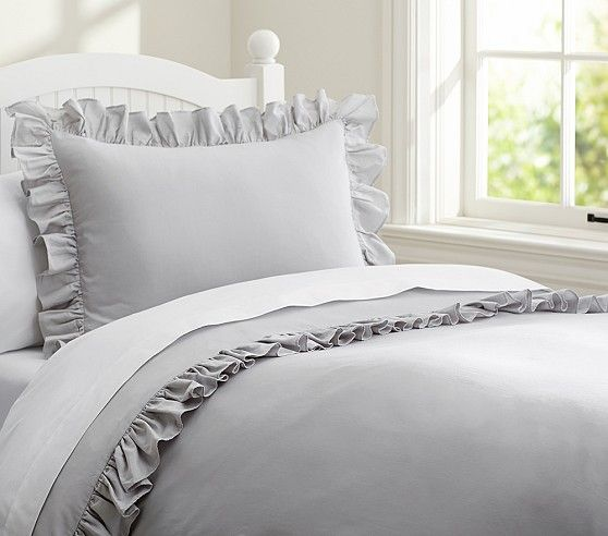 Ruffle Collection Duvet Cover | Pottery Barn Kids