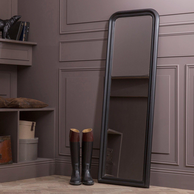 Miroir Rectangulaire Voltaire Noir L50 X H150 Cm En 2019