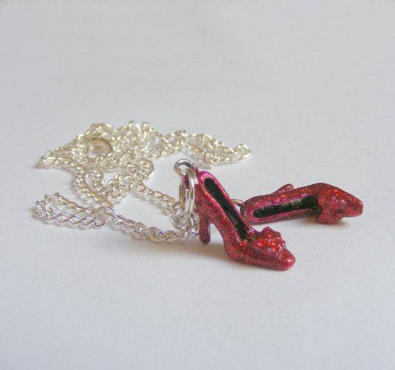 Ruby Slippers Miniature Pendant  Miniature Food by NeatEats, £12.99