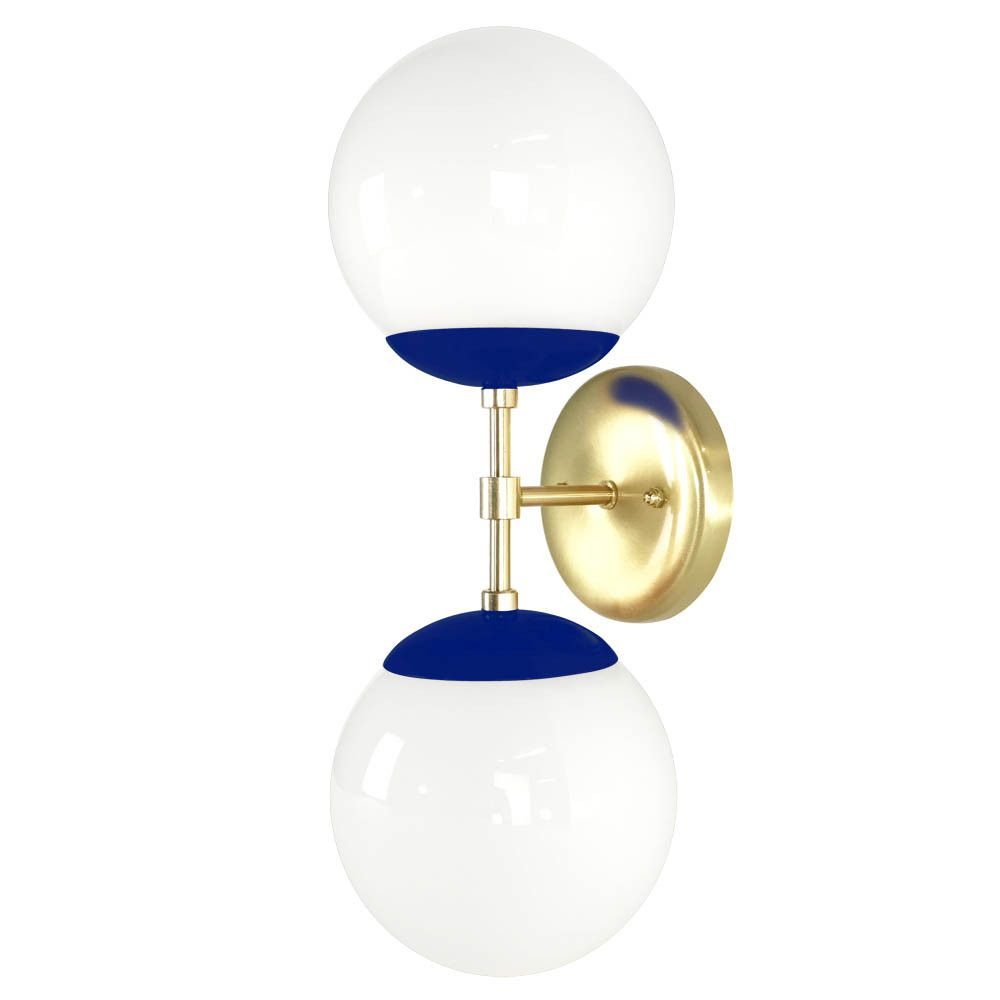 Color Capped Globe Sconce II - Brass