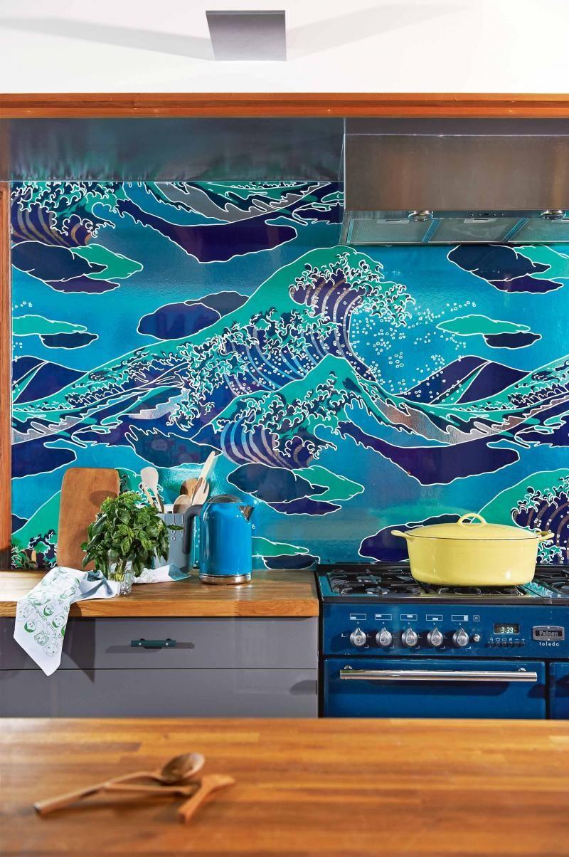 kitchen-splashback-wallpaper-behind-glass-apr13- | Home Building ...