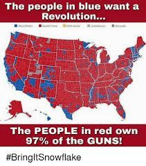 Image result for us map the people in red own 97 own the guns