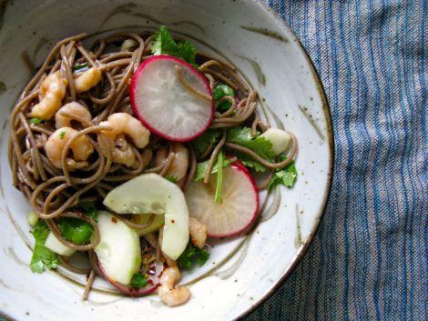 Bon Appetit noodle salad with chili-scallion oil