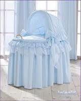 Bassinet in blue