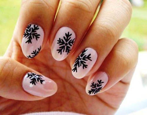 9 Simple Snowflake Nail Art Designs Henna Pinterest Nails