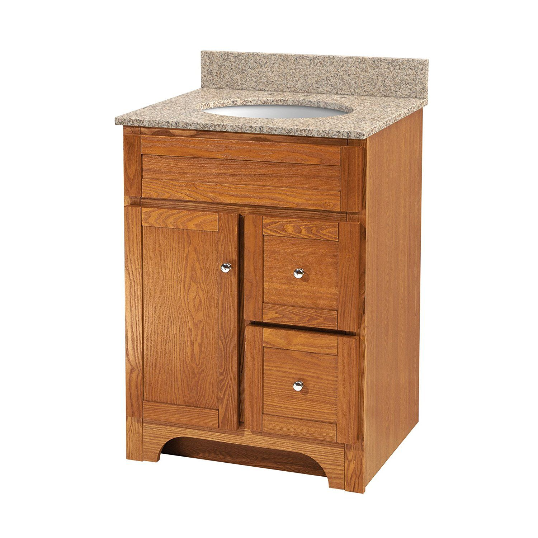Foremost Wroa2421d Worthington 24 Inch Oak Bathroom Vanity Amazon Com Bathroom Vanity Base Oak Bathroom Vanity Bathroom Vanities Without Tops