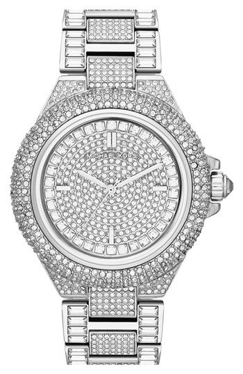 29f92b2138e8 Michael Kors  Camille  Crystal Encrusted Bracelet Watch