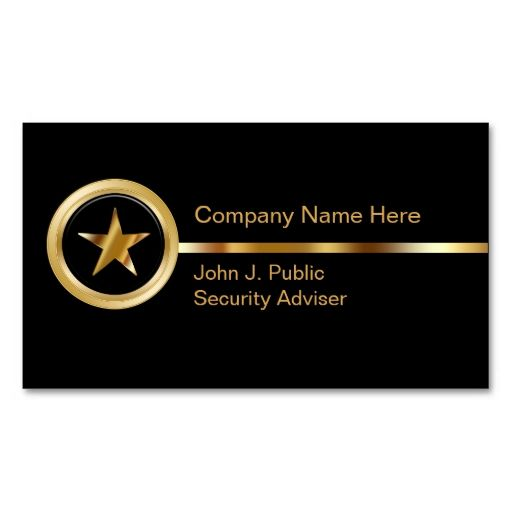 Security Business Cards. This great business card design is available for customization. All text style, colors, sizes can be modified to fit your needs. Just click the image to learn more!