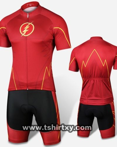 Cool superhero cycling jerseys the flash cycle clothes-  14252c6dc