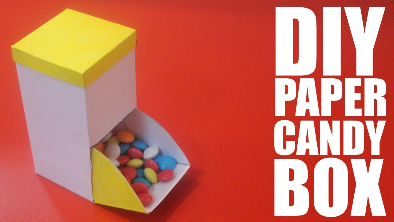 How To Make A Paper Candy Box Diy Candy Box Candy Box Diy Paper Candy Origami Candy Box
