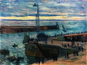 Le Haver, the Port Entrance - Othon Friesz
