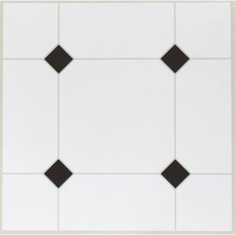 Home Impressions Vinyl Floor Tile Black Diamond Vinyl Flooring Tile Floor Diamond Tile