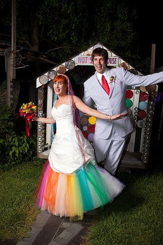 rainbow wedding dress pretty lace   wedding ♥   Pinterest   My ...