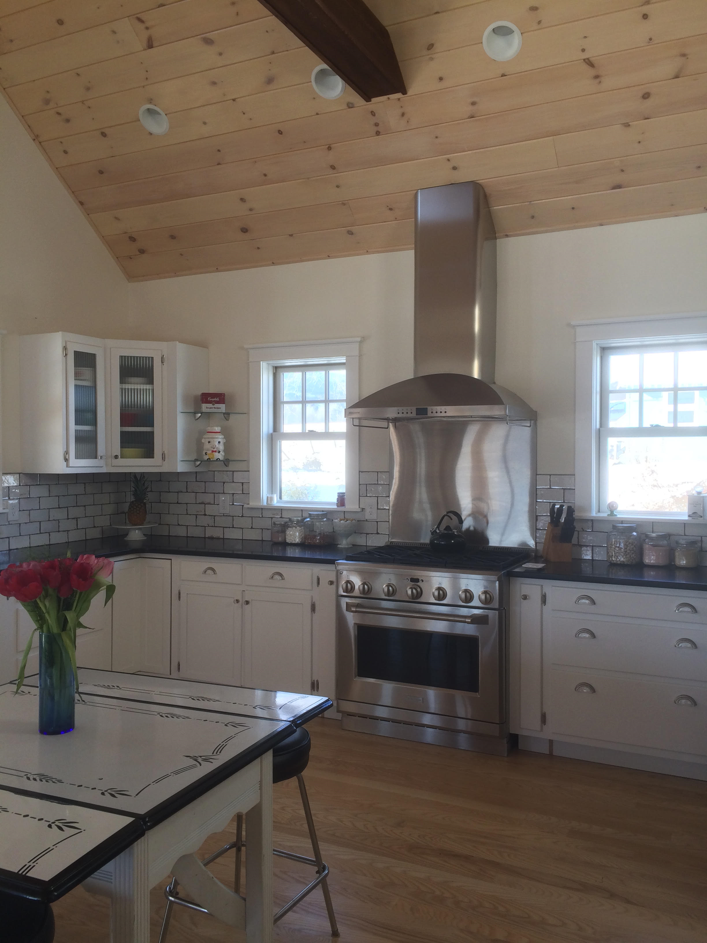 Recent kitchen addition to our 1890s home in upstate ny vaulted recent kitchen addition to our 1890s home in upstate ny vaulted wood ceiling distressed dailygadgetfo Choice Image