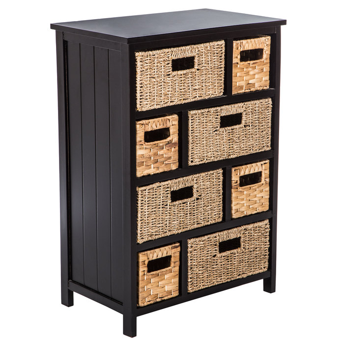 Black & Natural Wood With Drawers in 2020